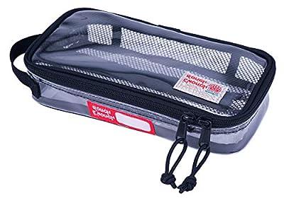 Rough Enough TSA Approved Clear Toiletry Bag Makeup Organizer Zipper Dopp Kit Pouch Bag Case for Men Women Boy Girl Travel Size Essential Electric Toothbrush Large Pencil Case Laptop Accessories Mesh