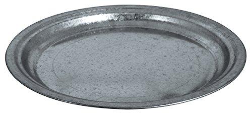 Rayher 46276000 Zink-Dekoteller, Durchmesser 36 cm