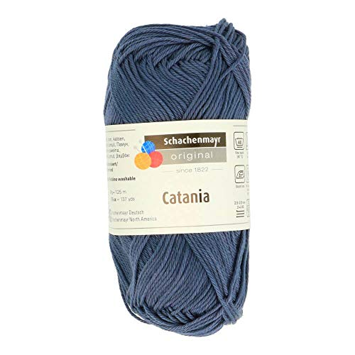 Schachenmayr Catania 9801210-00393 graphit Handstrickgarn, Häkelgarn, Baumwolle