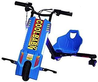 kids Drifting Electric Super Power Scooter 360 Degree Drift Car High Speed & Bluetooth & Adjustable 3 Wheel Toy - Blue