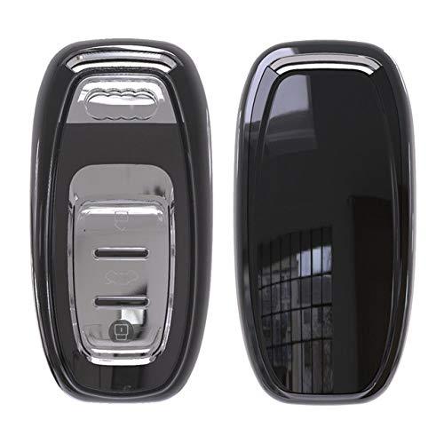 DDZKA Coperchio Chiave Auto Cover Completa Morbido TPU Portachiavi Cover di Protezione per Audi A4L A5 A6 A6L Q5 S5 S7 Protect Shell Car Styling Cover Custodia per Ragazze, C, Nero