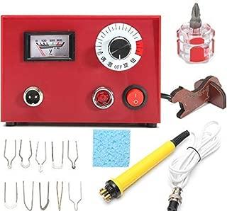 Pyrography Machine, 220V 50W Pyrography Pen Machine Iron Kit Set Fire Writer Wood Crafts Burning Tool Set for Carving
