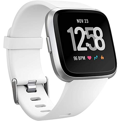 Wepro Replacement Bands Compatible with Fitbit Versa SmartWatch, Versa 2 Smart Watch and Versa Lite SE Sports Watch Band for Women Men, Small, White