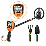 Metal Detector, Metal Finder Mainly for Kids with Large Back-lit LCD Display, Lightweight & Waterproof Coil for Treasure Hunting, Gift for Junior - MMD03