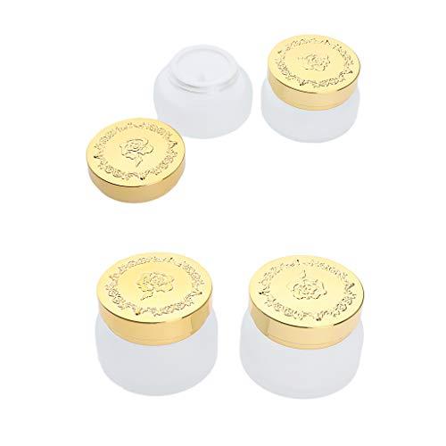 SDENSHI Tarro de Crema de Vidrio Vacío a Prueba de Fugas de 4 Uds.