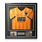exclusivememorabilia.com Camiseta del Wolverhampton Wanderers firmada por Steve Bull. Marco de Lujo