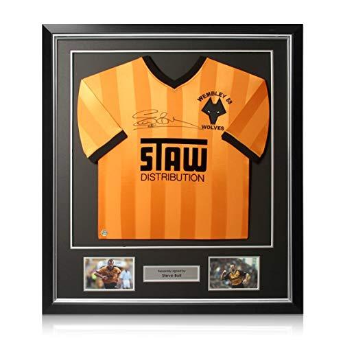 Exclusive Memorabilia Maglia Wolverhampton Wanderers autografata da Steve Bull. Cornice Deluxe