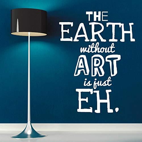 Pbbzl Art Design behang Aarde zonder kunst ist Juste muursticker woonkamer slaapkamer decoratie Wallpaer 43 x 57 cm