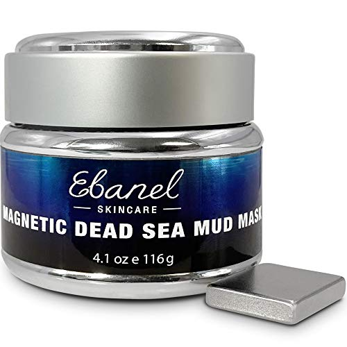 Ebanel Magnetic Dead Sea Mud Mask for Face and Body, 4.1 Oz Deep Pore Cleansing Moisturizing Bentonite Clay Detox Face Mask for Acne, Blackheads, with Retinol, Rosehip, Avocado Oil, Argan Oil, Peptide