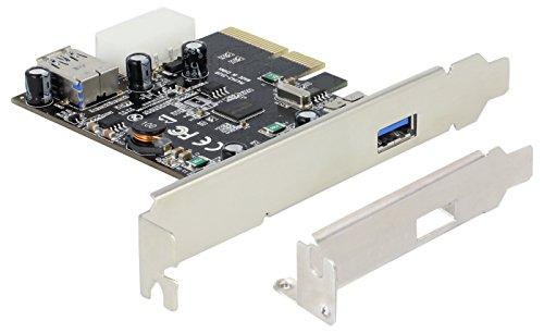 Preisvergleich Produktbild PCIe x4 SuperSpeed USB 10 Gbps (USB 3.1 Gen 2) 1+1 Port inkl. LP ASmedia Delock