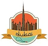 Dubai United Arab Emirates World City Travel Label Badge - Sticker Graphic - Auto, Wall, Laptop, Cell, Truck Sticker for Windows, Cars, Trucks