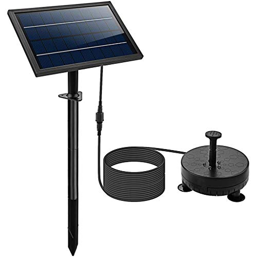 XJDMM Solarbrunnenpumpe , Mit Led-Beleuchtung Für Pool Koi Pond Garden Vogelbad Tauch-solarwasserpumpe Kit 8w
