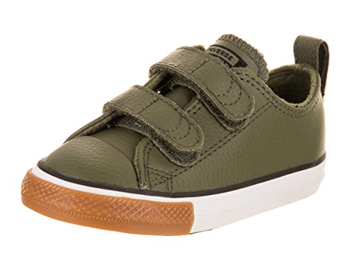 Converse Chuck Taylor All Star 2V OX Toddler Faux Leather Sneaker (9 M US Toddler) Green