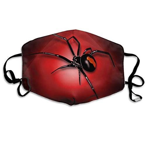 Spinne in rot dunkel cool Männer Frauen atmungsaktive Bequeme Gesichtsschutzhülle mit elastischem Gurt für die persönliche Gesundheit Verschiedene Verwendung