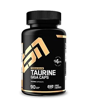 ESN Taurine Giga Caps Supplement Capsules Standard, 90-Count