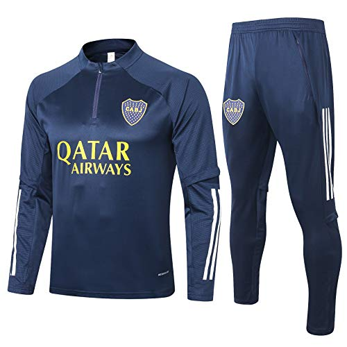Boca Juniors 20-21 New Season - Kit de chándal de fútbol unisex, conjunto de entrenamiento de fútbol, sudadera de fútbol, regalo espléndido de fútbol