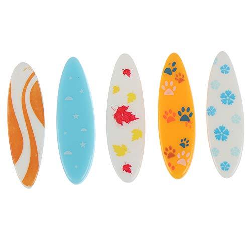GETSO 5 PC-Karikatur Surfboard Sea Modell Figürchen Spielzeug Schmuck Craft Bonsai-Dekor-Miniatur-Haus-Fee-Garten-Puppe Kuchen-Dekoration DIY: 5pc Zufall