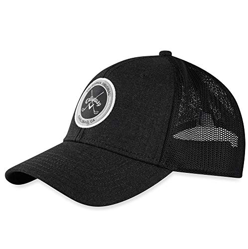 Callaway mens Golf 2020 Adjustable Trucker Hat Black