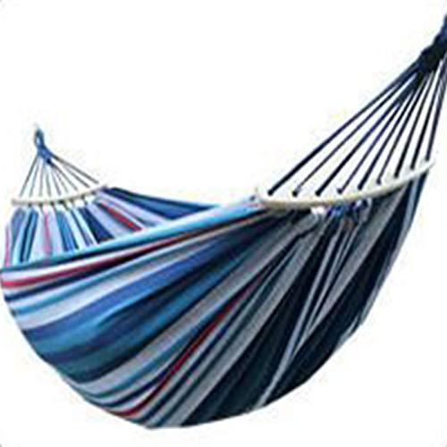WXXMZY Hamaca Doble, Hamaca De Lona para Exteriores, Bolsa De Transporte, Se Puede Usar En El Jardín del Patio, Acampar, IR A La Playa Y Viajar (Color : Blue)