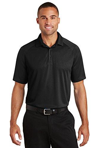 Port Authority® Crossover Raglan Polo. K575 Black L