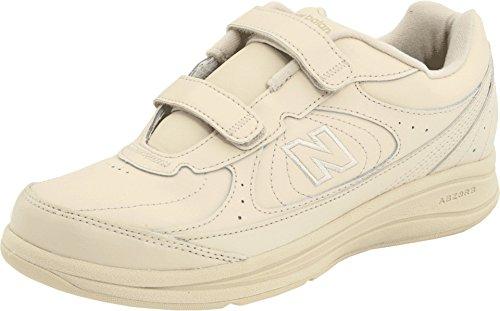 New Balance Women's 577 V1 Hook and Loop Walking Shoe, Bone/Bone, 8.5 M US