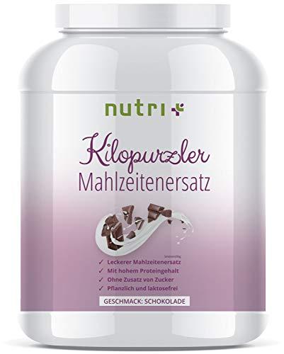 Abnehmen mit Kilopurzler DIÄTSHAKE - Schokolade - 20 Shakes / 1kg Pulver - Veganer Mahlzeitenersatz ohne Laktose und Aspartam - Pflanzliche Vitalkost - Hergestellt in Deutschland