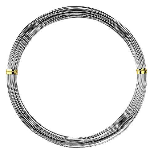 Ideen mit Herz Schmuckdraht | Basteldraht | Aluminiumdraht | dünn | 1 mm breit | 10 m lang (Silber)