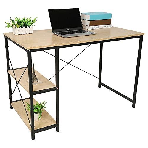 Escritorio de madera de la computadora del escritorio del ordenador portátil del escritorio de la escritura de la escritorio de 4 niveles estantería del ordenador moderno para el hogar Muebles de trab