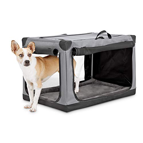 "Animaze Portable Canvas Dark Grey Dog Crate, 30"", Medium Basic Crates"