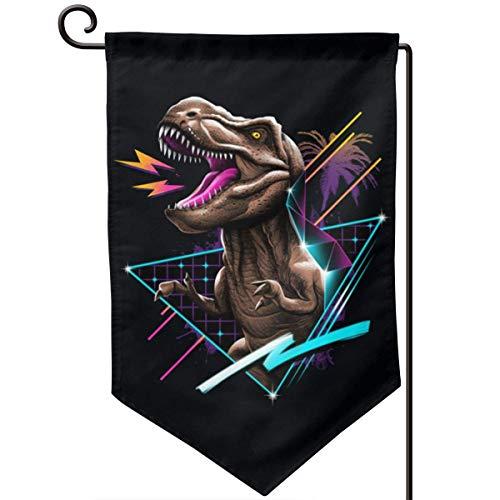 VLOOQ-HX Drapeau de Jardin de Rad T-Rex Drapeau de décoration de Vacances Double Face 12,5\