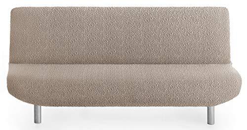 Funda de sofá Cama sofá Spongy Tejido Adaptable y Esponjoso - Color 11 Beige Oscuro - para Sofa Clic clac