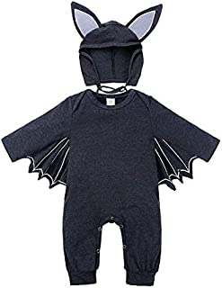 WTYD Family Goods Autumn Bat Long Sleeve Jumpsuit Baby Halloween Costume with Hat, Height:100cm, Color:Dark Grey