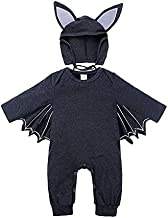 Kids Clothing Autumn Bat Long Sleeve Jumpsuit Baby Halloween Costume with Hat, Height:90cm, Color:Dark Grey Boys Clothing