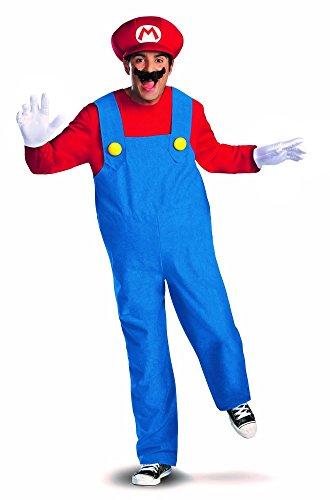 Shoperama Costume pour homme Super Mario Bros Rouge/bleu