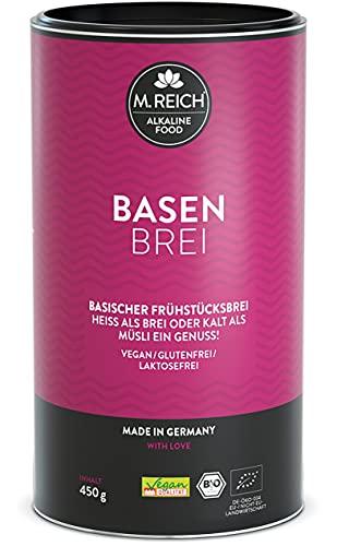 M.Reich   BasenBrei   Basisches Bio Müsli 450g Porridge ohne Zucker   Made In Germany   Frühstücksbrei Glutenfrei Vegan   Vollkorn Hafer Frühstück Muesli Brei