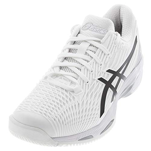 ASICS Men's Solution Speed FF 2 Tennis Shoes, 9, White/Black