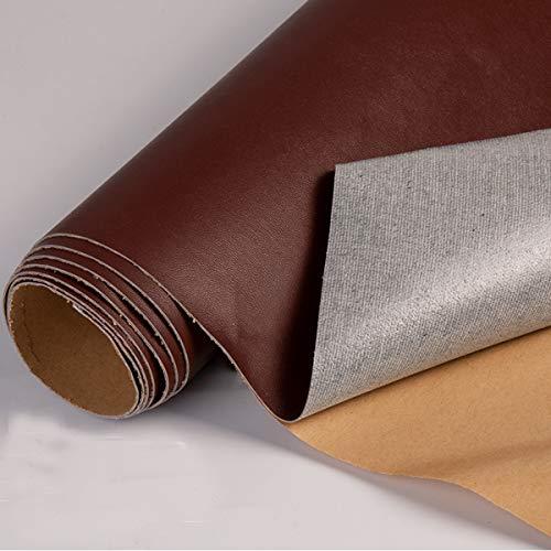 Leder-Klebeband für Couch, Sofas, Möbel, Autositz, Lederflicken, selbstklebend, 7,6 x 152,4 cm, Leder-Reparatur-Flicken (glattes Gewebe, dunkelbraun)