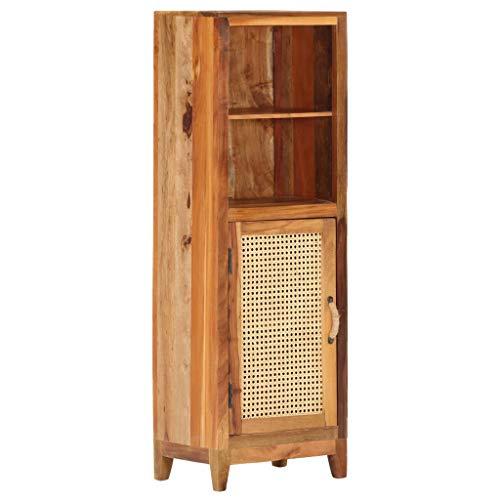 Casdl Highboard 40×30×122 cm Recyceltes Massivholz