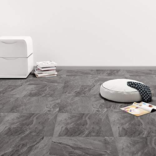 Tidyard PVC Laminat Dielen Selbstklebend rutschfest Wasserfest Vinylboden Bodenbelag Designboden Vinyl Boden Dielen Planken 5,11m² Schwarz mit Muster