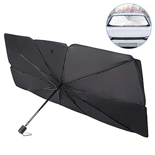 Bestine - Parasol para ventana frontal de coche, plegable, para parabrisas, protege de los rayos UV y del calor, reflector