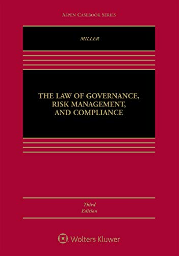 The Law of Governance, Risk Management and Compliance (Aspen Casebook Series) (English Edition)