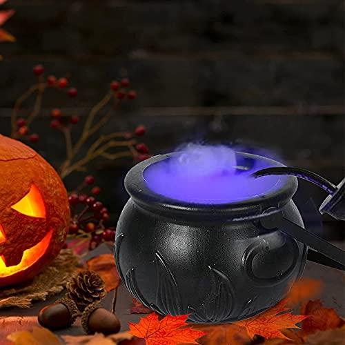 GGW Lata De Atmósfera De Halloween con Luces Decorativas LED De Colores Latas De Bruja Atomización Que Cambia De Color Luces De Ambiente De Fiesta Atomizador De Plástico