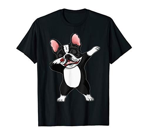 The Brindle French Bulldog dabbing french bulldog cute gift T-Shirt