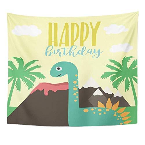 Globo Animal Dino Fiesta de cumpleaños Bebé Niño Celebración de dibujos animados Decoración linda para el hogar Tapiz Colgante de pared para sala de estar Dormitorio 150x200cm