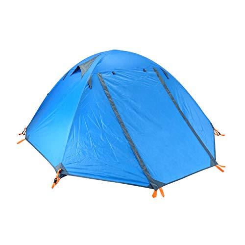 TRIWONDER 2 Person leichtes Zelt, Wasserdichtes Wurfzelt für Camping Outdoor Fischen (Blau)