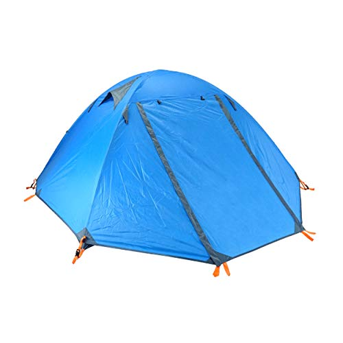 TRIWONDER 1-2-3 Person 4 Season Camping Tent Lightweight Waterproof Backpacking Dome Tent Double Layer for Camping Hiking Travel (Blue - 3 Person)