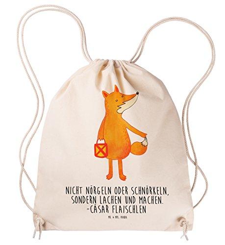 Mr. & Mrs. Panda Tasche, Tragetasche, Sportbeutel Fuchs Laterne mit Spruch - Farbe Transparent