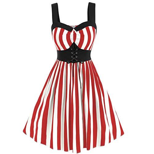MAYOGO Damen 50er Vintage Ballkleider Kurz Rockabilly Retro Cocktail Kleid Petticoat Faltenrock Festliche Kleider Partykleid Formelles Kleid