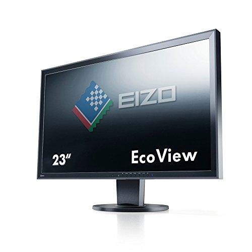 EIZO FlexScan EV2316WFS3-BK 58 cm (23 Zoll) Monitor (DVI-D, D-Sub, USB 2.0 Hub, DisplayPort, 5 ms Reaktionszeit, Auflösung 1920 x 1080) schwarz