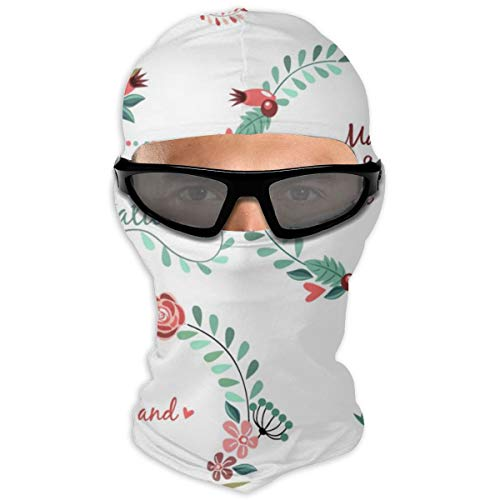 N/Een volledig gezichtsmasker bruiloft patroon pak slinger bloem lint kap zonnebrandcrème masker dubbele laag koud voor mannen en vrouwen